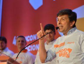 João Amoêdo deixa a presidência do Partido Novo.