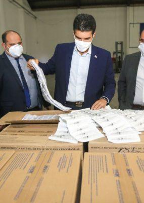 Governo do Pará inicia distribuição de seringas e agulhas para vacinação contra Covid-19.