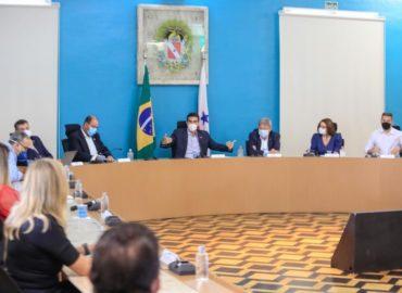 Governo reúne com prefeituras para debater estratégias de enfrentamento a Covid-19.
