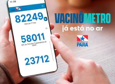 Já está no ar o vacinômetro, o portal de monitoramento da vacinação contra Covid-19.