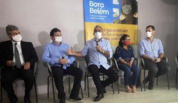 """Edmilson anuncia que o """"Bora Belém"""" começa a ser pago em 8 de março."""