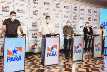 Governo anuncia novas medidas para conter o contágio do coronavírus no Pará.