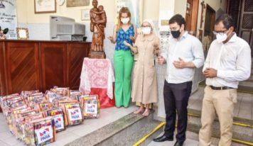 Governo do Pará entrega 400 cestas básicas a seis instituições de acolhimento em Belém.