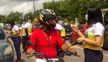 Campanha Maio Amarelo conscientiza população sobre segurança e atenção no Trânsito em Barcarena.