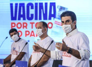 Helder anuncia que população adulta paraense deve ser vacinada até final de setembro de 2021.