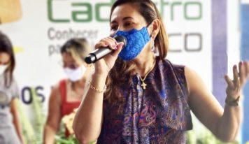Deputada Dilvanda Faro e Beto Faro levam benefícios para São Domingos do Capim.