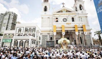 No Círio 2021 a Imagem Peregrina é recebida com emoção por fiéis na Praça Santuário.