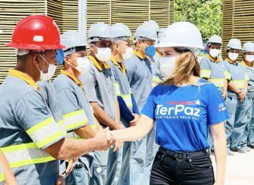 Primeira-dama do Estado faz visita técnica à primeira unidade da Usina da Paz em Ananindeua.